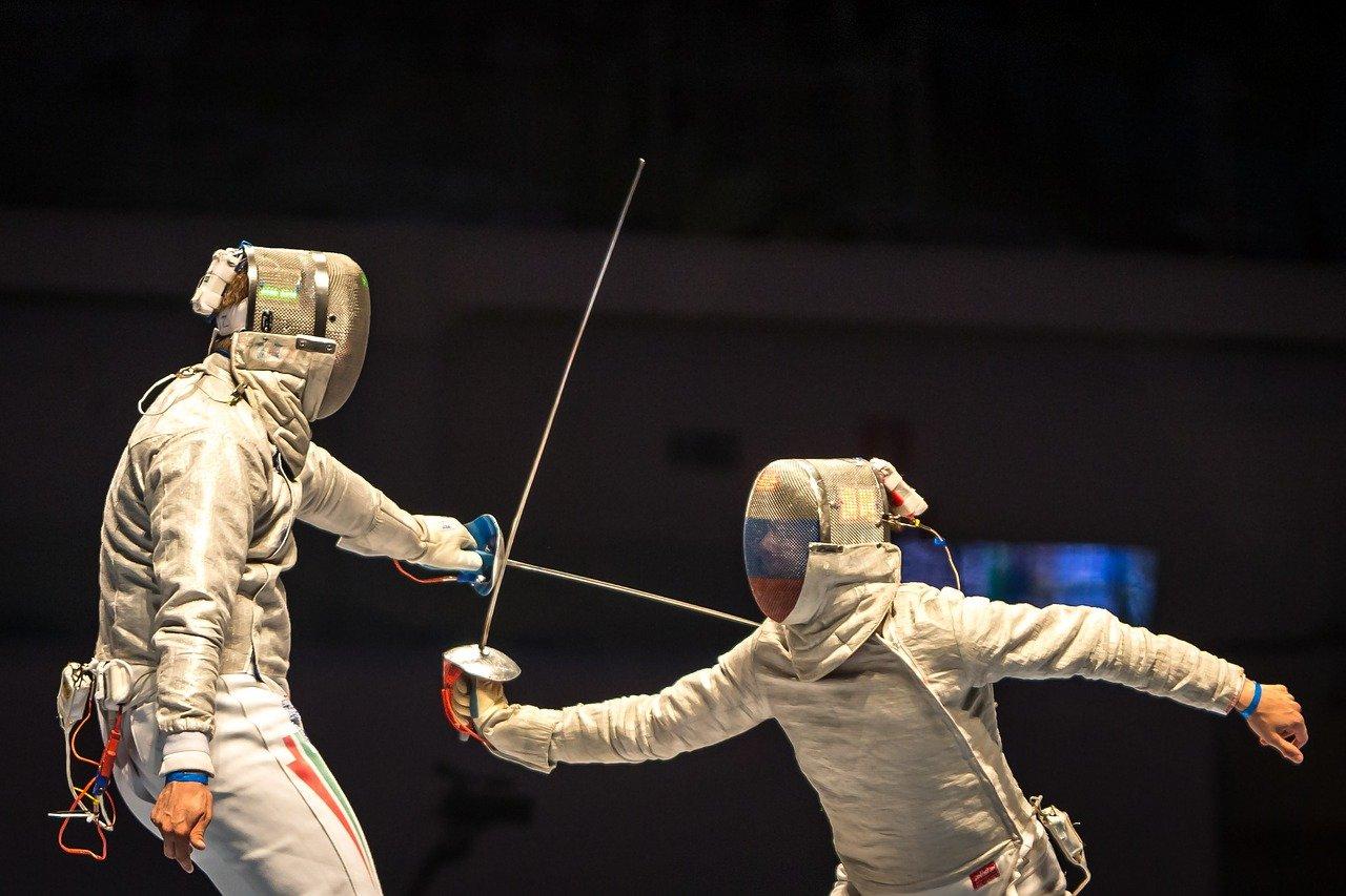 Fechten als olympische Disziplin mit Degen, Säbel und Florett